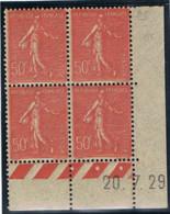 50c Semeuse Lignée Yvert 199, AE De AE+AC Du 20-7-29, ** - ....-1929