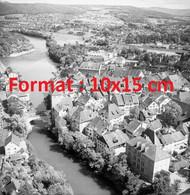 Reproduction Photographie Ancienne Aérienne Panoramique De Bruggen Suisse 1954 - Repro's