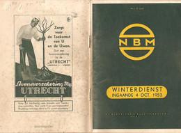 Zeist Boekje Winterdienst 1953 N.B.M. KE3308 - Europe