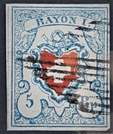 SWITZERLAND 1851 - Canceled - Sc# 10 - 5r - 1843-1852 Federal & Cantonal Stamps