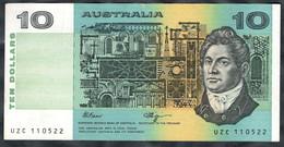 Australia - 10 Dollars 1991 - Pick 45f - 1974-94 Australia Reserve Bank (papier)