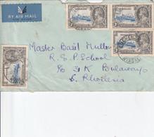 Nyasaland, Cover  GVR Jubilee 1d, X 4, Poort Strikes Ofr  LUCHENZ  C.d.s. - Nyasaland (1907-1953)