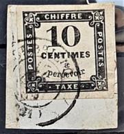 FRANCE 1861 - Canceled - YT 2 - Chiffre Taxe 10c - 1859-1955 Usados