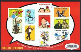 België Xxx 2012 Blok 201 Strip Kuifje Ongetand - Bloques 1962-....