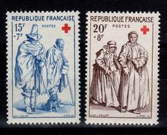Croix Rouge 1957 YV 1140 & 1141 N** Cote 11 Euros - Unused Stamps