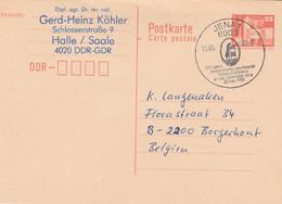DDR 1989, Entier Postal Met Gelegenheidsstempel Jena Universiteit - Postales - Usados