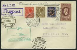 ZULEITUNGSPOST 124 BRIEF, Niederlande: 1931, 1. Südamerikafahrt, Bis Rio De Janeireo, Prachtbrief - Zeppelin