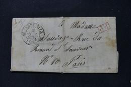 FRANCE - Cachet Postal Avec Fleurons De Abbeville Sur Lettre En PP Pour Paris En 1938 - L 86667 - 1801-1848: Precursors XIX