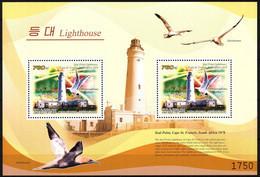 {K044} Korea 2009 Lighthouses Birds II S/S Of 2 MNH - Korea (Nord-)