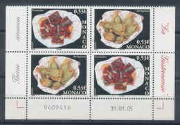 Monaco N°2491 Et 2492** X2  Europa - La Gastronomie - Neufs