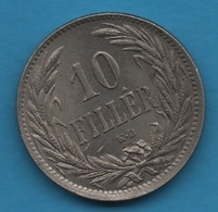 HUNGARY 10 FILLER 1894  KM# 842 Franz Joseph I - Hungary