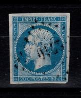 Napoleon ND - YV 14A Oblitere PC 2710 De Rodez , 4 Marges, Pas Aminci - 1853-1860 Napoleon III
