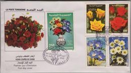 Tunisie - Premier Jour - Bel Affranchissement Fleurs - 21 Octobre 2000 - Tunesien (1956-...)