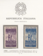 ITALIA REPUBBLICA 1950  RADIODIFFUSIONE SASS. S.142  NUOVA GOMMA INTEGRA MNH** SPLENDIDA - 1946-60: Nuevos