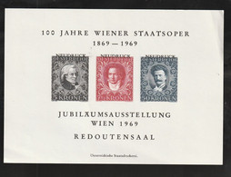 "Oesterreich - 1969 - Vignettenblock ""100 Jahre Wiener Staatsoper"" (*) (E900) - Blocks & Sheetlets & Panes"