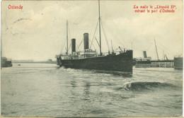 "OSTENDE : La Malle Le ""Léopold II"" Entrant Le Port D'Ostende - Oostende"