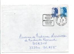 1 ER JOUR FLAMME EUGENE DAGUIN PARIS 1985 - Annullamenti Meccanici (pubblicitari)