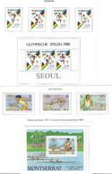 Olympiade 1988 - Selt./postfr. Lot Kplt. Serien Aus Surinam Und Montserrat! - Sommer 1988: Seoul