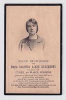 ADEL NOBLESSE  MARIA VANDE KERCKHOVE  NAZARETH 1907   1931 - Overlijden