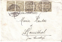Lettre De Luxembourg Vers Hemsthal 21.03.1914 - 1907-24 Ecusson