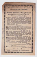 PASTOOR RONSE BESTUURDER HOSPITAAL  JOANNES VANOPDENBOSCH - MEERBEKE 1819 - RONSE 1897 - Overlijden