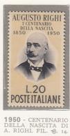 ITALIA REPUBBLICA 1950  AUGUSTO RIGHI SASS. 633 NUOVA GOMMA INTEGRA MNH** SPLENDIDA - 1946-60: Nuevos