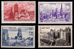 FRANCE 1945 YT 744-747 ** - Ungebraucht
