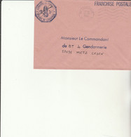 Z1 - Enveloppe Brigade  Gendarmerie LAPOUTROIE  -  En Franchise - - Bolli Militari A Partire Dal 1940 (fuori Dal Periodo Di Guerra)