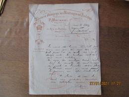 PARIS SOCIETE ANONYME DES PAPETERIES DU SOUCHE P.MAUBAN DIRECTEUR 73 RUE DE REUILLY COURRIER DU 5/8/1912 - 1900 – 1949