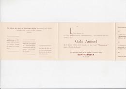 Uitnodiging / Invitation - Gala Annuel - Club Renaissance - Wanfercée - Baulet - Dan Harneyx - Andere