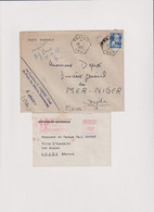 OB - ABADLA- ORAN 1955-+ 1 Mignonette Assemblée Nationale-Affr. Mécanique ORAN Pour Oujda Maroc - Sin Clasificación