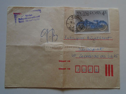 ZA343.15   Hungary -  Cover   1986    Vértesboglár   -motorcycle  Moto  BMW R47  1927 - Unclassified