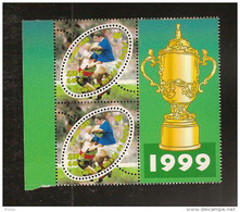 """France, 3280a, Tenant à Normal, 3280, Avec Vignette """"Coupe 1999"""", Neuf **, TTB, Coupe Du Monde De Rugby - Variétés: 1990-99 Neufs"""