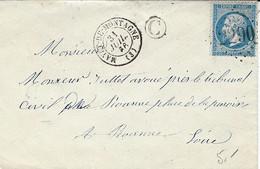 1866- Enveloppe De MAYET-DE-MONTAGNE  ( Allier ) Cad T15 Affr. N°22 Oblit. G C 2290 + C Boite Non Identifiée+ - 1849-1876: Classic Period
