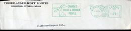 61967 Canada. CUT, Red Meter Freistempel,ema,1964 Woodstok,hoist &derrick People, Showing Donkey Mule,âne Mulet - Anes