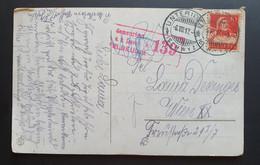 """Schweiz 1917, Postkarte UNTERIBERG (SCHWYZ) österreichische Zensur FELDKIRCH """"Axenstraße"""" - Storia Postale"""