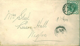 GB 1902 Cover From ABBEYTOWN, CUMBERLAND To WIGTON. - Briefe U. Dokumente