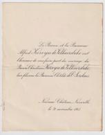 LE BARON ET LA BARONNE A.KERVYN De VOLKAERSBEKE / MARIAGE DE BARON CH.KERVYN DE VOLKAERSBEKE 1 BARONNE CL. De SERCLAES - Andere