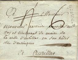 1789- Lettre De St POURCIN ( Allier ) Lenain N°2  Tardif  Taxe 8 Sous Pour Aurillac - 1701-1800: Voorlopers XVIII