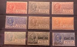 ITALIE - 1926/27 -Poste Aérienne N°Y 3 à 9 Neufs Avec Forte Charnière + 10 Et 11 Neufs Sans Gomme - Cote 122€ - - Nuevos