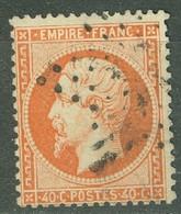 France 23 Ob Quasi TB Tendance Orange Vif - 1862 Napoleone III
