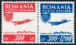Roumanie Romania Rumanien 1946 Sports Populaires Popular Lockheed L-14 Super Electra - Airplanes