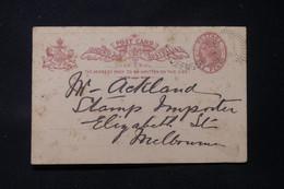 AUSTRALIE / QUEENSLAND -  Entier Postal Type Victoria Pour Melbourne En 1896 - L 86752 - Briefe U. Dokumente