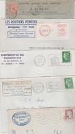 17 PONS LOT DE 5 LETTRES AVEC ENTETE DE COMMERCES - 1900 – 1949