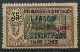 Inde N 130a (Charniere) Surcharge Horizontale - Unused Stamps