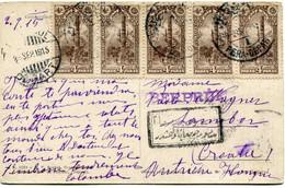 TURQUIE CARTE POSTALE RECOMMANDEE DEPART (ISTAMBUL) 2 SEP 1915 POUR LA CROATIE ( AUTRICHE - HONGRIE ) - Briefe U. Dokumente
