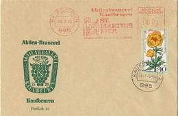 122  Bière, Brasserie, Saint Martin: Ema D'Allemagne, 1975 - Beer, Saint Martin: Meter Stamp From Kaufbeuern. Brewery - Alimentación
