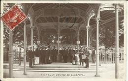 VICHY , La Source De L' Hôpital , 1908 , CPA ANIMEE - Vichy