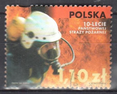 Poland 2002 10th Anniversary Of The State Fire Brigade - Mi.3971 - Used - Gestempelt - Usados