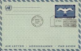 Nations Unies Aerogram 11c New York 26/06/61 - Cartas